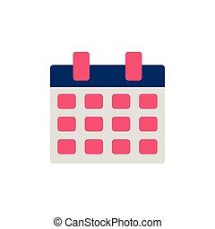 school calendar flat style icon