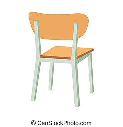 School chair. Vector flat color illustration