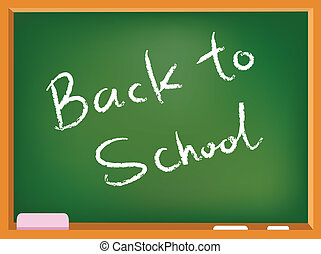 School chalkboard - Back to school text on a chalkboard