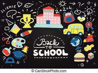 School Chalkboard Composition