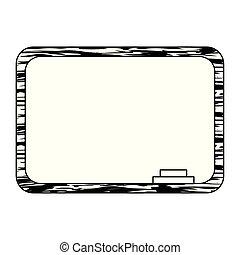 school chalkboard education supply icon