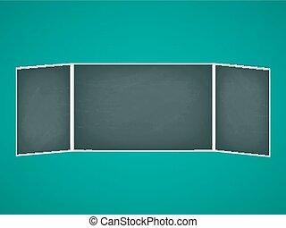 School chalkboard folding