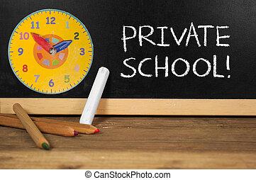 school, chalkboard, particulier, bureau