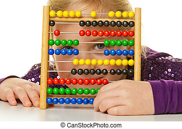 school child is expecting an abacus - a small school is...