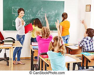 School child with teacher.