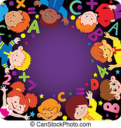School childhood. Place for your text. Vector...