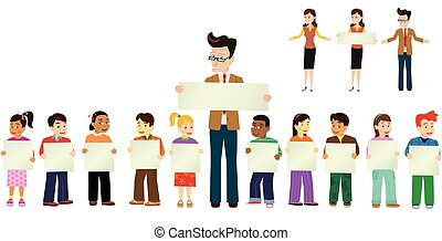 School children and teachers.eps