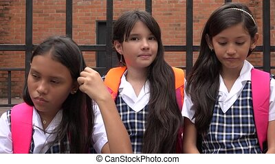 School Children At School