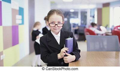 school children in classroom. static shot
