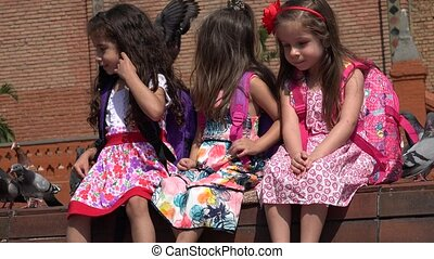 School Children Pretty Girls
