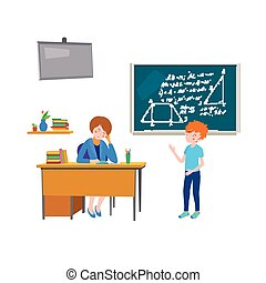 school class behavior teacher - Back to school concept. A ...