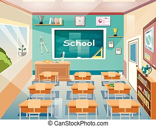 School class room Interior board