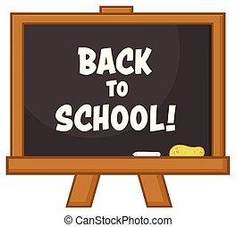 School Classroom Chalkboard Cartoon Design With Text
