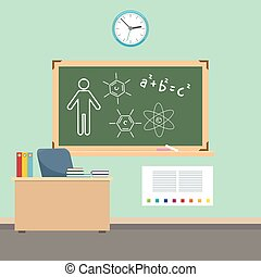 School classroom interior design