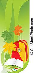 School composition. Banner. Vector illustration