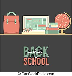 school, concept., back