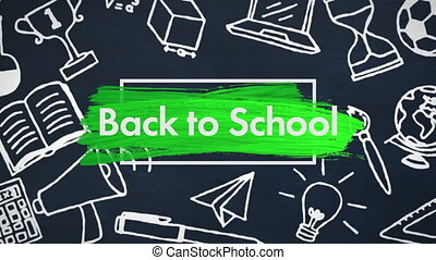 School concept icons against back to school text