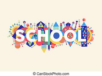 school, concept, illustratie
