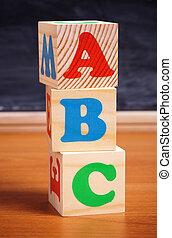 school concept - Selective focus on nearest part. Technical...