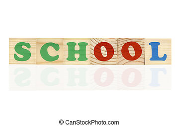 school concept - special toned and reflection photo f/x,...