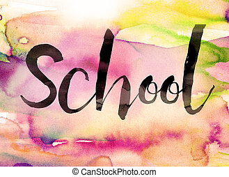 School Concept Watercolor Theme