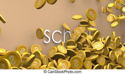 School cost increasing animation.