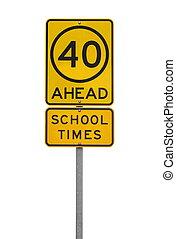 school day sign