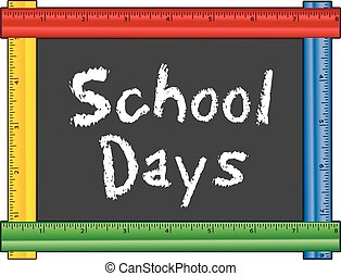 School Days, Ruler Frame