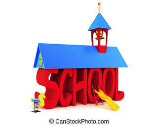 School days, SCHOOL spelled in text on a white background.