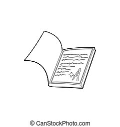 School diary icon, outline style