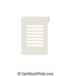 school document flat style icon