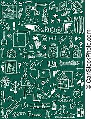 School Doodle background, texture