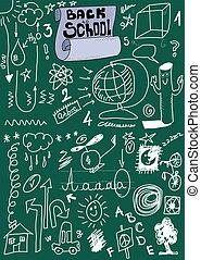 School Doodle texture, back to scho