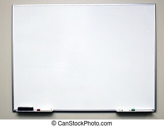 School dry erase board - Clean dry erase board on a off ...