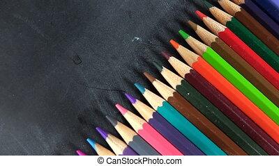 School Education Colorful Paint Pencils