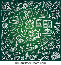 School education - doodles set