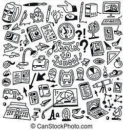 School education - doodles set