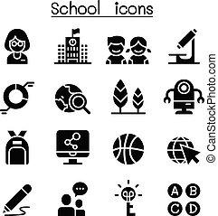 School & Education icon set