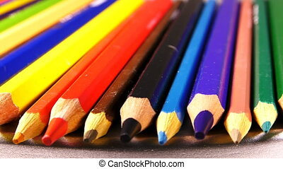 School Education Tools Colorful Pencils