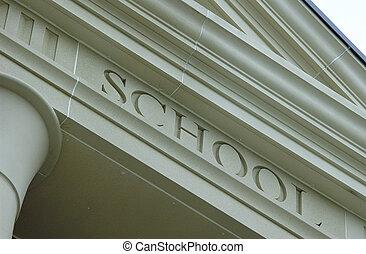 School Engraved Into Stone