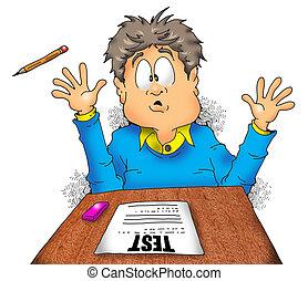 school, examen, terror001