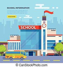 School Flat Illustration