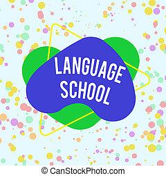 school., formé, modèle, design., langue, langues, écriture, ...