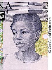 School Girl on 2 Cedis 1979 Banknote from Ghana