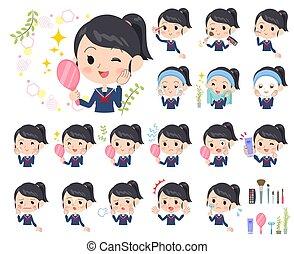 school girl Sailor suit_beauty