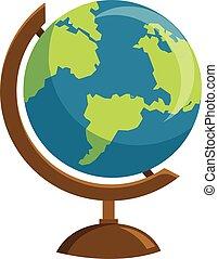 School globe icon isolated on white background.