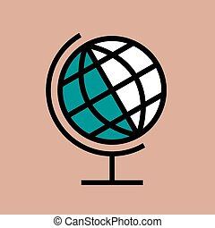 School globe icon on a stand.