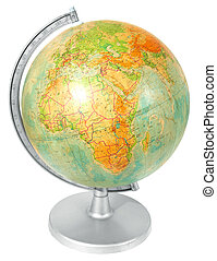 School globe isolated over white background