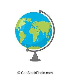 School Globe - model of Earth. Mo