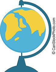 School Globe - model of Earth. Vector illustration isolated on a white background
